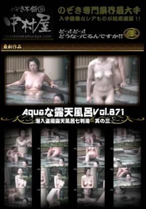 【無修正】 Aquaな露天風呂 Vol.871 潜入盗撮露天風呂七判湯 其の三