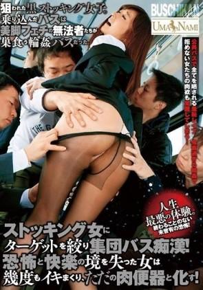 【モザ有】 ストッキング女にターゲットを絞り集団バス痴漢!恐怖と快楽の境を失った女は幾度もイキまくり、ただの肉便器と化す!