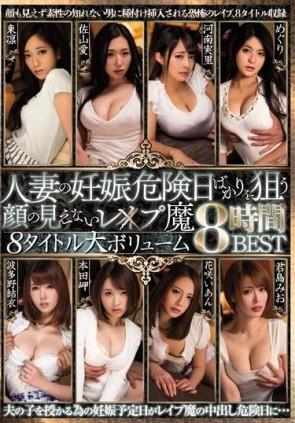 【モザ有】 人妻の妊娠危険日ばかりを狙う顔の見えないレ×プ魔8タイトル大ボリューム8時間BEST