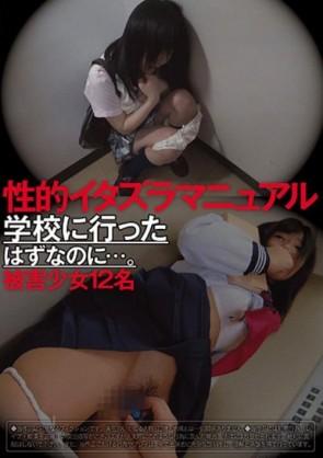 【モザ有】 性的イタズラマニュアル 学校に行ったはずなのに…。 被害少女12名