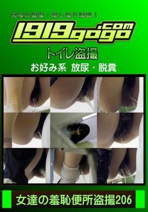【無修正】 女達の羞恥便所盗撮 Vol.206