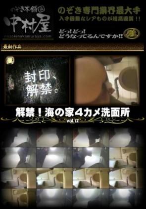 【無修正】 解禁 海の家4カメ洗面所 Vol.12