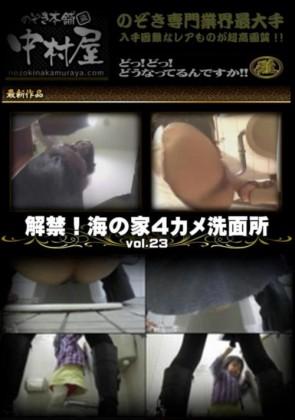 【無修正】 解禁 海の家4カメ洗面所 Vol.23
